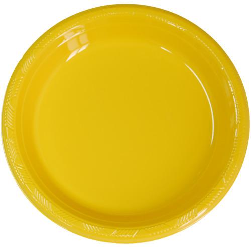 PVC접시)옐로우(소/중/대)